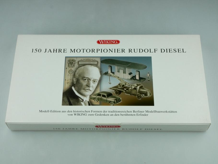 9905950 Wiking 1/87 150 Jahre Motorpionier Rudolf Diesel mit Mercedes Box 512553