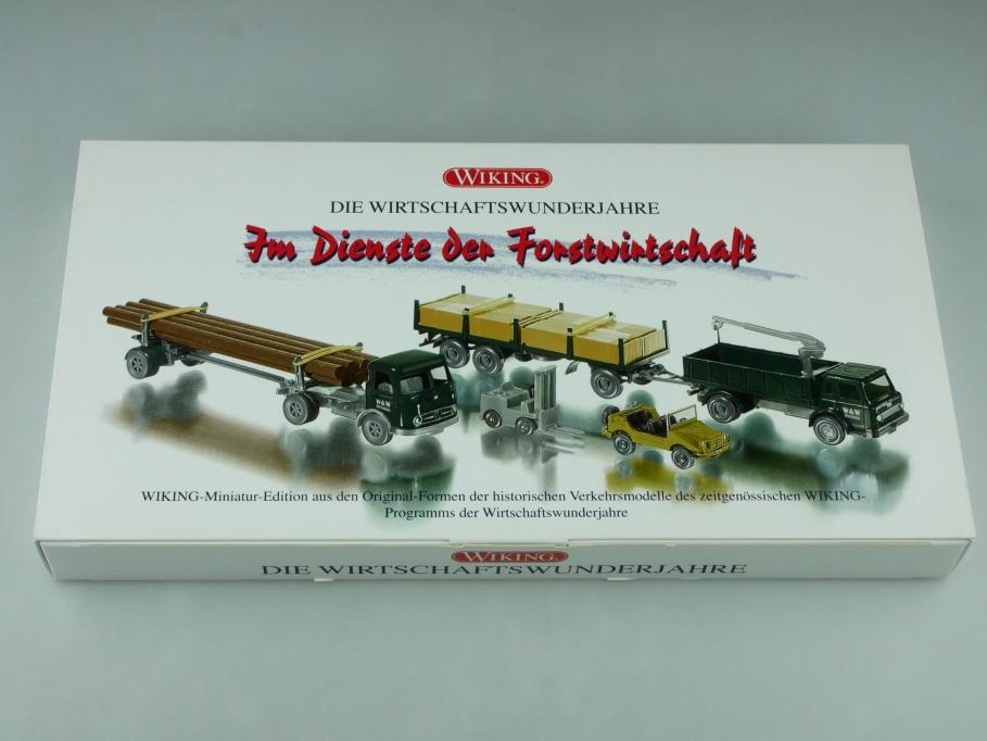 99067053 Wiking 1/87 Im Dienste der Forstwirtschaft mit Mercedes Benz Box 512554