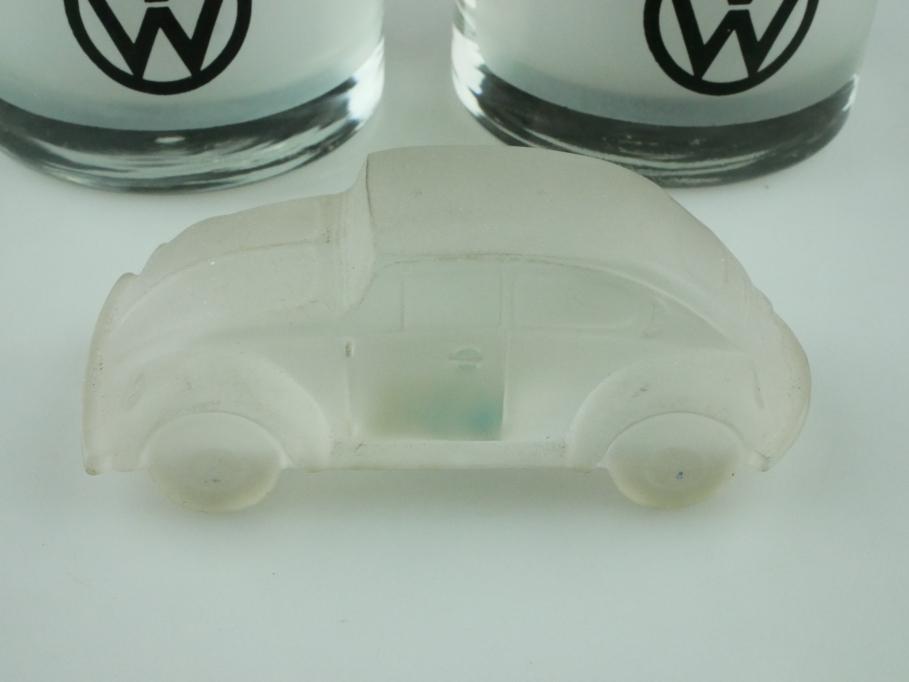 VW Käfer 1/43 von Kristalux Mexico mit zwei Gläsern Bug Beetle Konvolut  512559