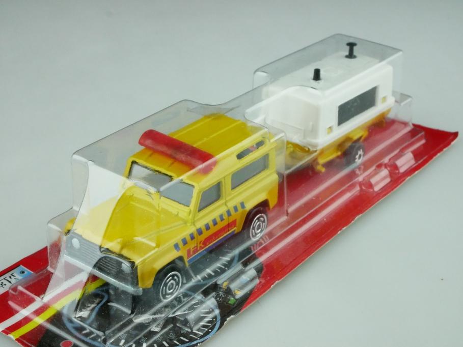 382 Majorette 1/58 Land Rover Defender Station Wagon & Kompressor mit Box 512567