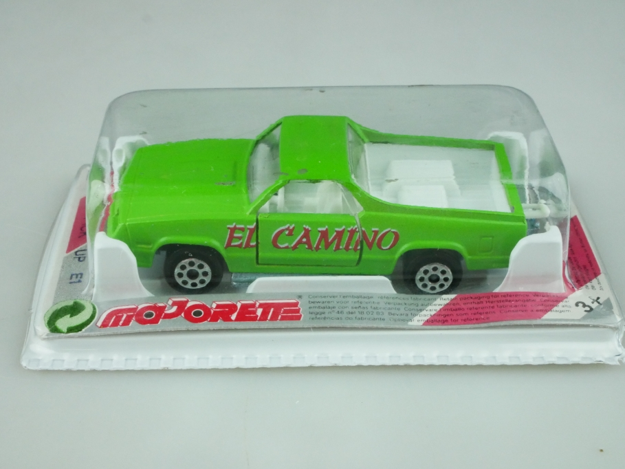 296 Majorette 1/59 Chevrolet El Camino Pick up Truck maigrün mit Box 512568