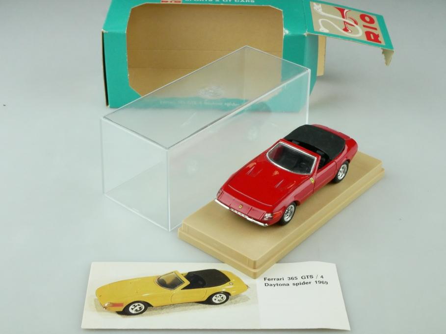 Rio 1/43 Ferrari 365 GTS/4 Daytona Spyder Convertible red mit Box 512573