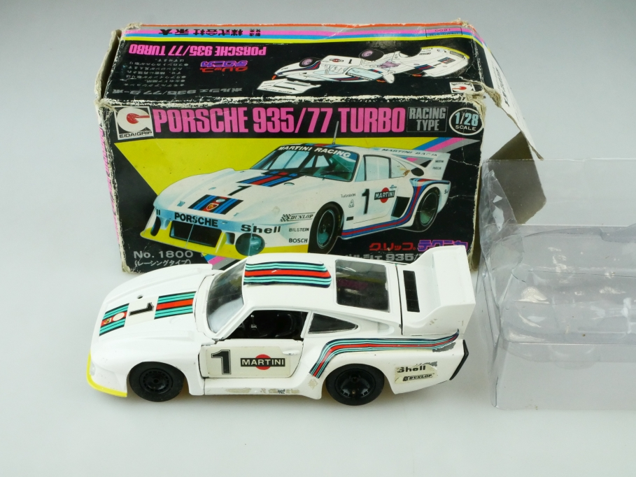 1800 Eidai Grip 1/28 Porsche 935/77 Turbo Coupe Martini Racing mit Box 512574