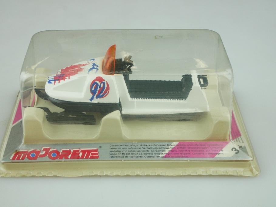284 Majorette 1/60 Motoneige Motorschlitten Snowmobil white mit Box 512585