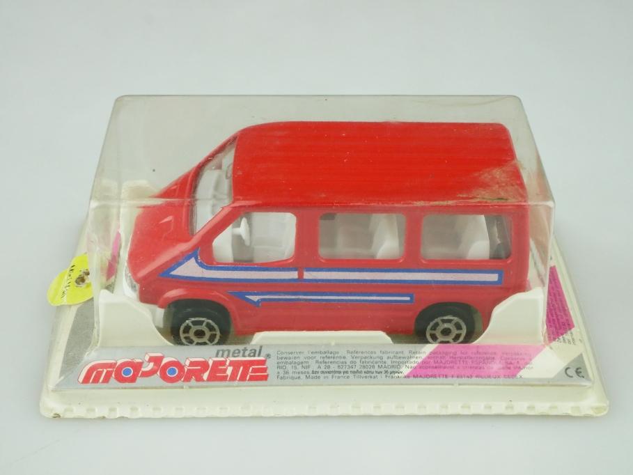 243 Majorette 1/60 Ford Transit mini Bus red mit Box 512612