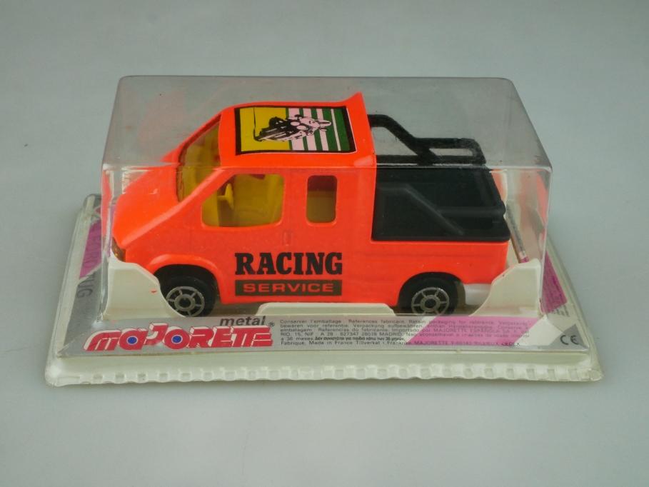 264 Majorette 1/60 Ford Transit Doka Tug Racing Service lightorange  Box 512613