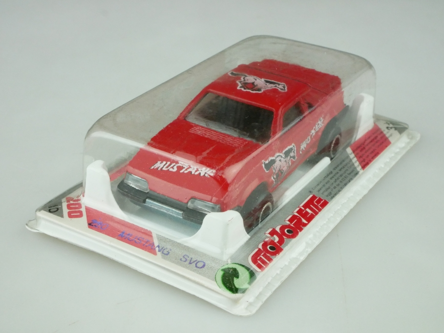220 Majorette 1/59 Ford Mustang SVO Coupe red mit Box 512614