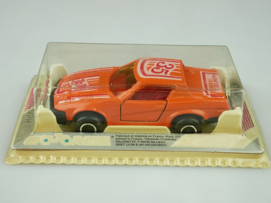 202 Majorette 1/55 Triumph TR7 Coupe orange mit Box 512617