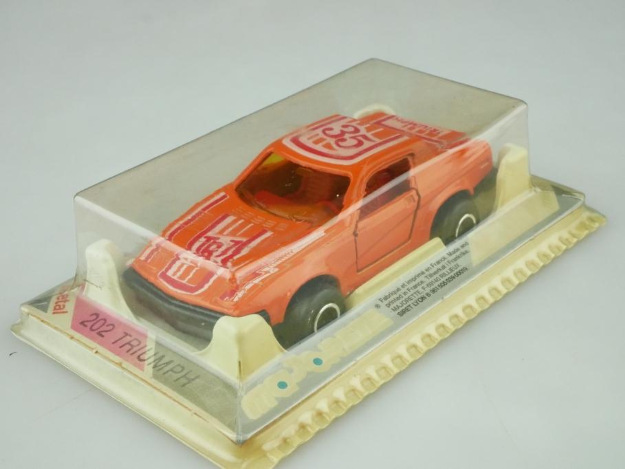 202 Majorette 1/55 Triumph TR7 Coupe orange mit Box 512617