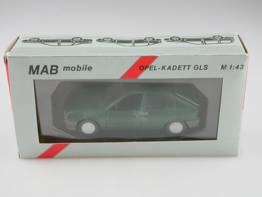1198 MAB 1/43 Opel Kadett E GLS 4 Türer Fließheck grün mit Box 512640