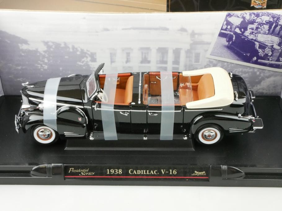 Road Signature 1/24 Cadillac V16 Presential Limo Convertible 1938 mit Box 512651