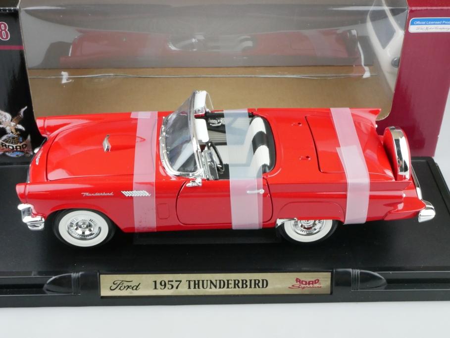 Road Signature 1/18 Ford Thunderbird Roadster 1957 mit Hardtop  Box 512659