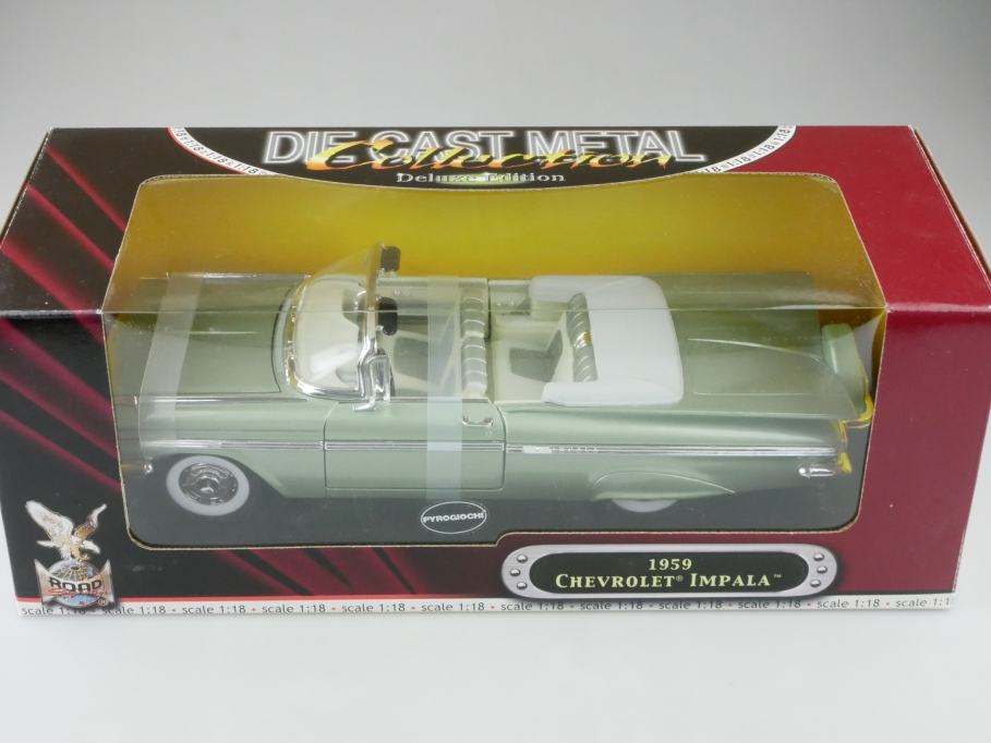 Road Signature 1/18 Chevrolet Impala Convertible 1959 lightgreenmet. Box 512661