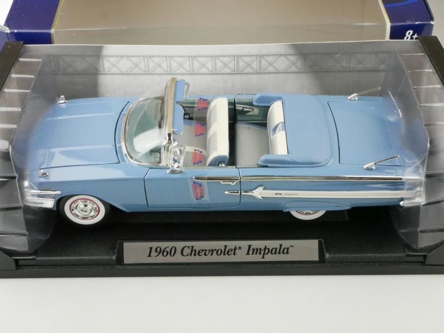 Motor Max 1/18 Chevrolet Impala Convertible 1960 blue mit Box 512663