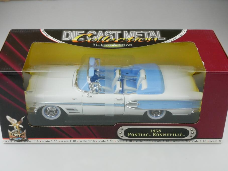 Road Signature 1/18 Pontiac Bonneville Convertible 1958 mit Box 512666
