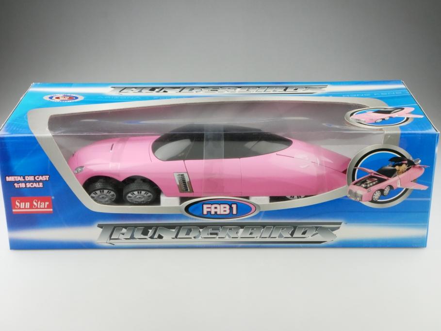 4571 Sun Star 1/18 Thunderbirds Fab 1 Sixwheeler Action Moviecar mit Box 512669