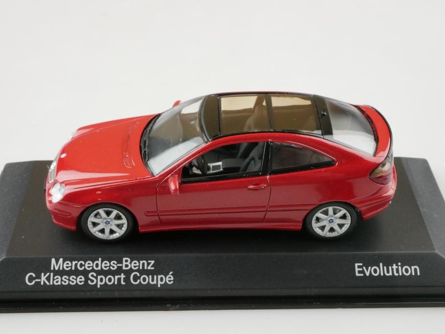 Minichamps 1/43 Mercedes Benz C Klasse Sportcoupe Evolution m. Box 512678