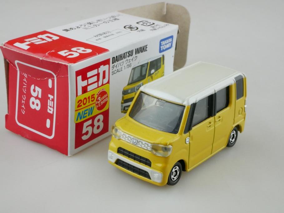 58 Takara Tomy 1/56 Daihatsu Wake Minivan 2015 mit Box 512682