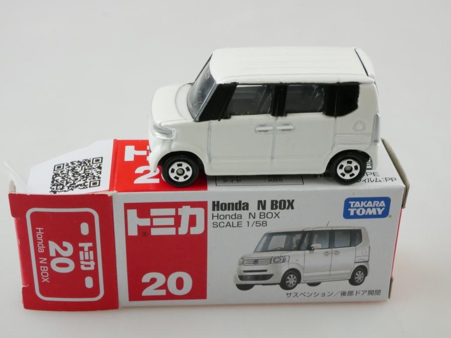 20 Takara Tomy 1/58 Honda N Box Minivan white mit Box 512683