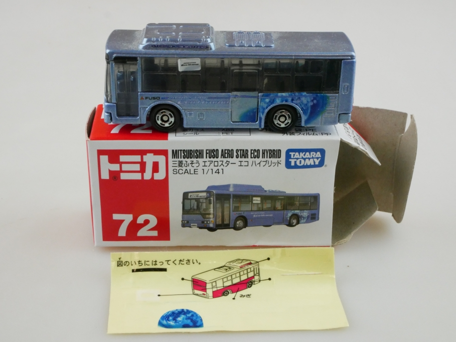 72 Takara Tomy 1/141 Mitsubishi Fuso Aero Star  Eco Hybrid Bus Box 512689