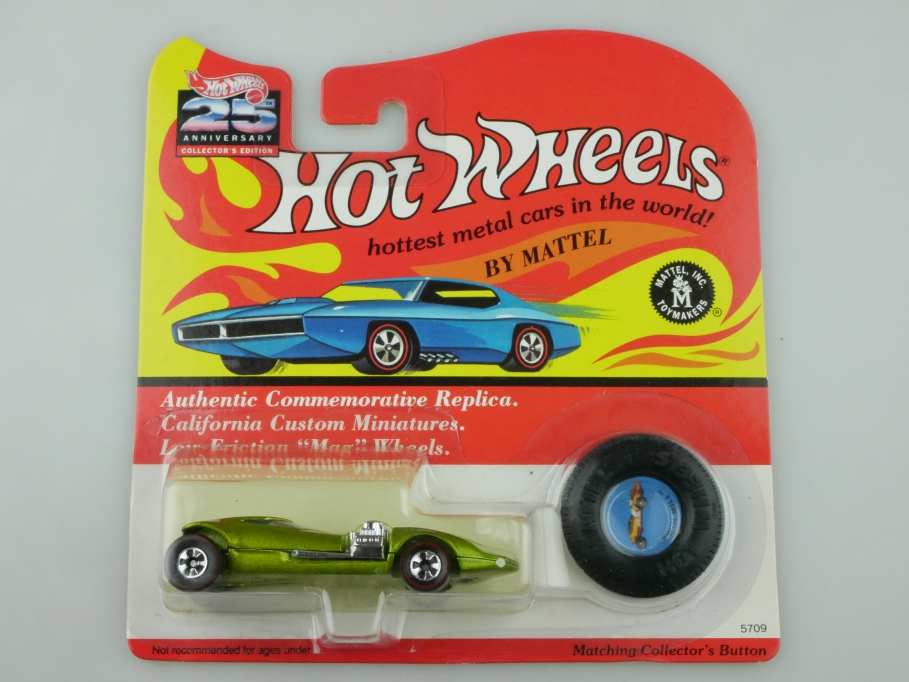 5709 Hot Wheels ca.1/64 Twin Mill Redliner 1992 lightgreenmetallic m. Box 512697