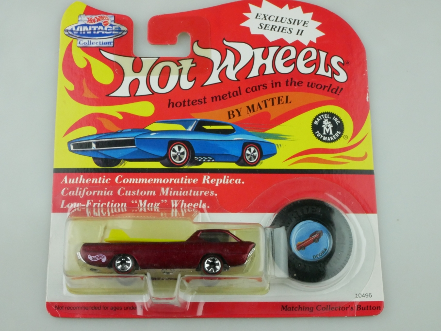 10495 Hot Wheels ca.1/64 Dodge Deora Custom Pick Up Redliner 1993 mit Box 512699