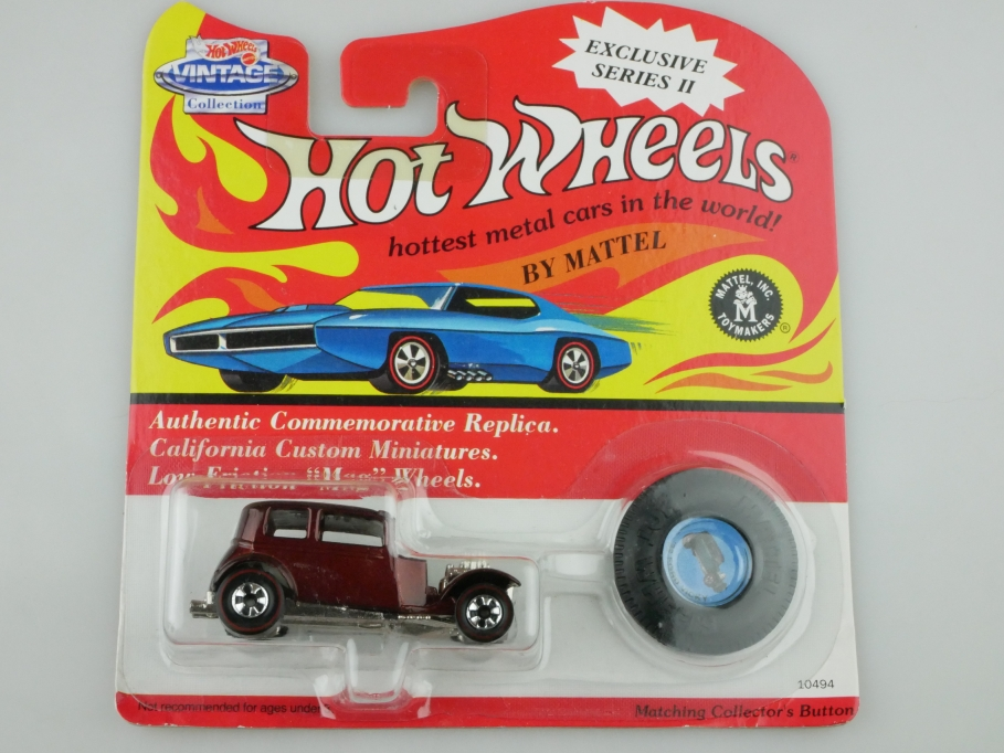 10494 Hot Wheels ca.1/64 Ford Vicky 1932 Hot Rod Redliner 1993 darkmaroon 512700