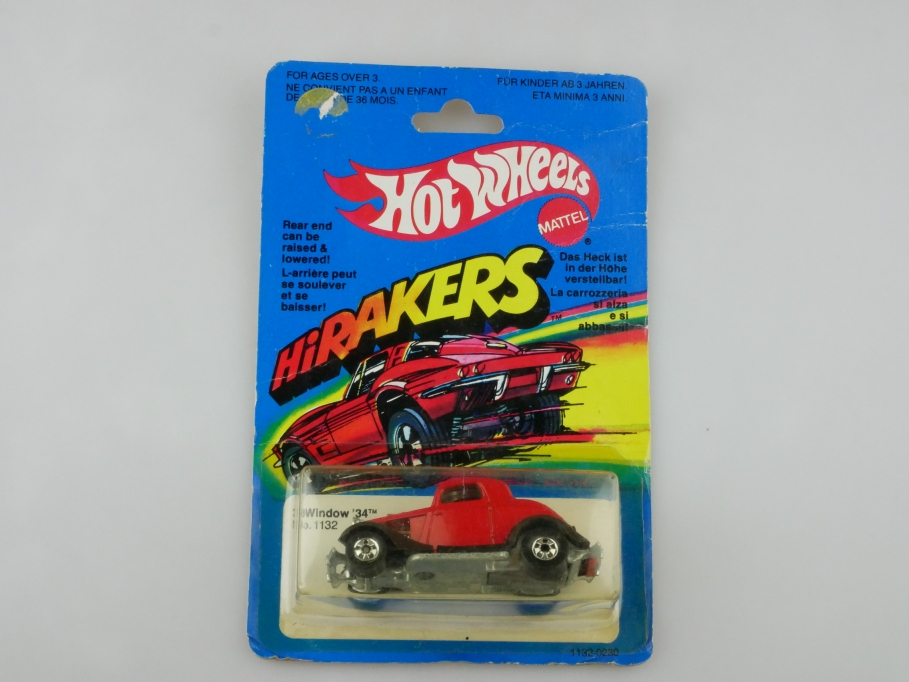 1132 Hot Wheels 1/64 Hirakers 34er Ford 3 Window Coupe Hot Rod mit Box 512702
