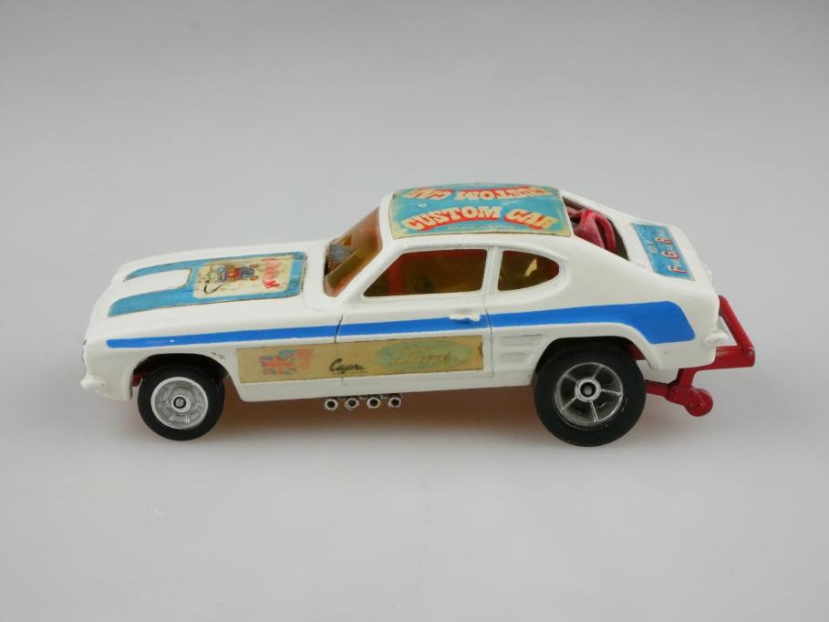163 Corgi Toys 1/43 Santapod Gloworm Ford Capri Dragster Custom ohne Box 512704