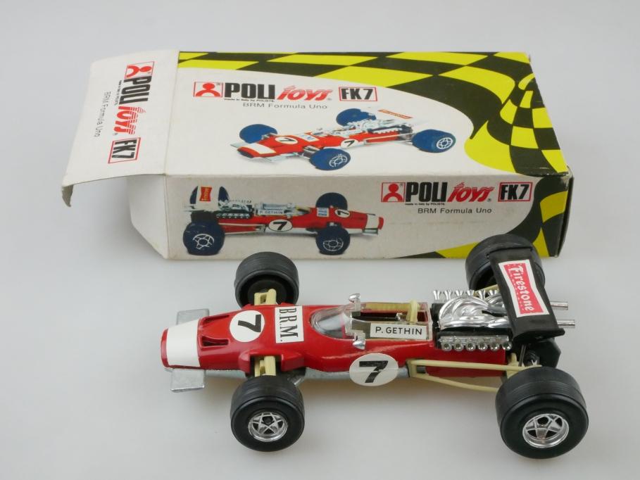 FK7 Politoys 1/32 BRM Formula uno Racer Rennwagen Formel 1 Gethin mit Box 512731