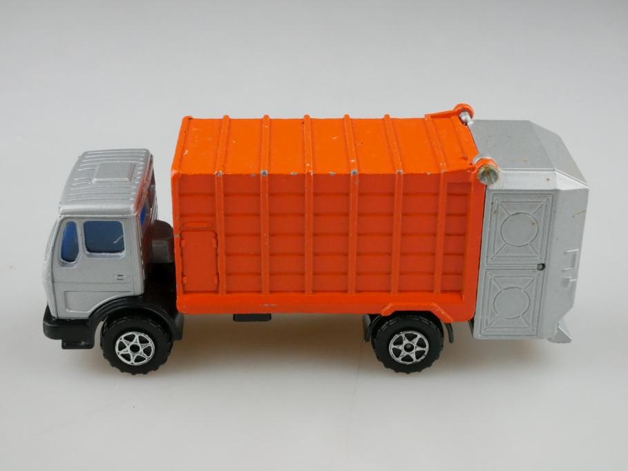 2101730 Majorette 1/55 Mercedes Benz Müllwagen 3000er Serie ohne Box 512741