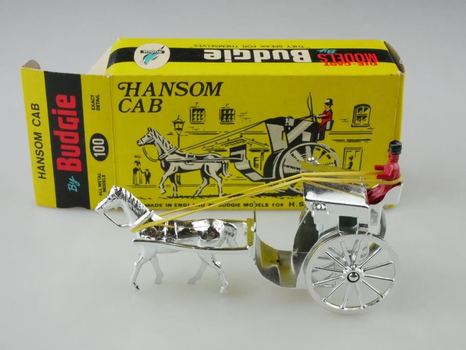 100 Budgie ca. 1/43 Hansom Cab Taxi Kutsche silveredition mit Box 512745