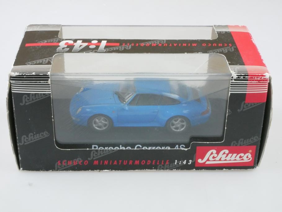 4151 Schuco 1/43 Porsche Carrera 4S Coupe selten blau mit Box 512796