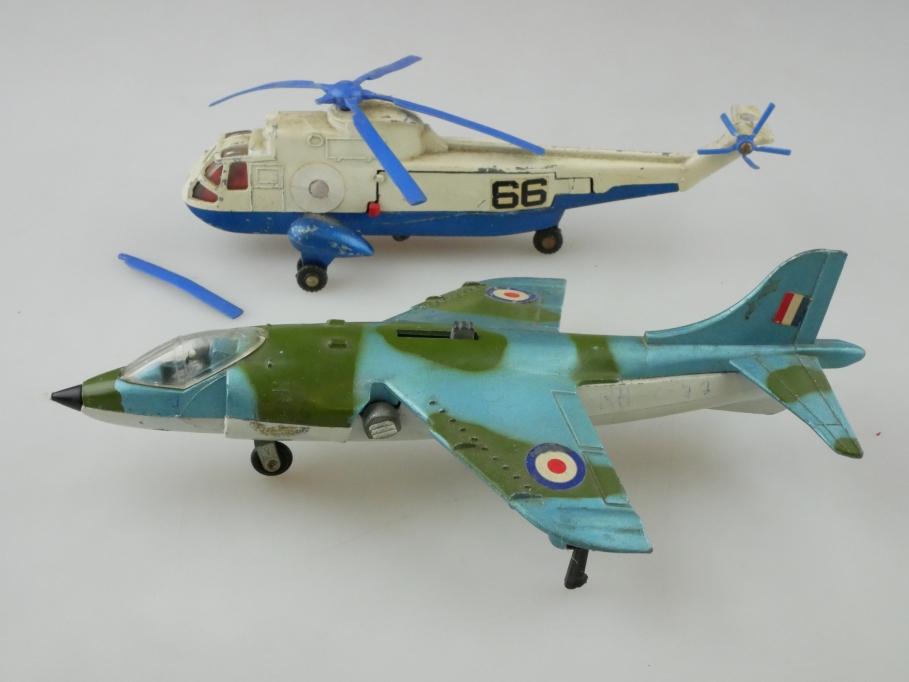 Dinky Toys Konvolut ca.1/72 Hawker Harrier Helikopter Hubschrauber Bastler512815