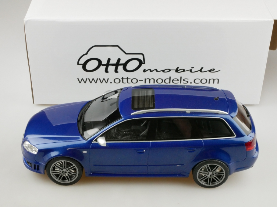 Otto MOBILE  1 18 Audi RS 4 Avant B7 Combi 2005 Sepang bleu With Box 512823  nouveau style