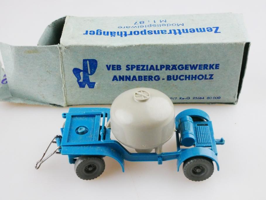 1019 Espewe 1/87 DDR Zementtransportanhänger VEB Annaberg Buchholz m. Box 512848