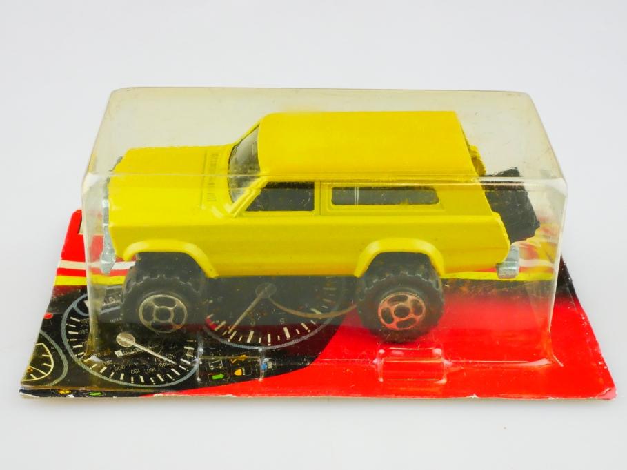 236 Majorette 1/64 Jeep Grand Cherokee Station Wagon gelb mit Box 512851