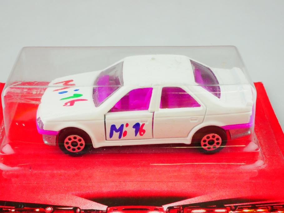 218 Majorette 1/64 Peugeot 405 MI 16 Serie 200 selten mit Box 512861