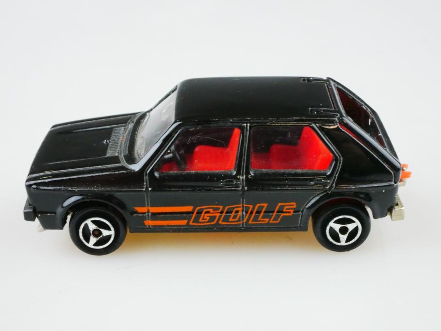 210 Majorette 1/60 Volkswagen VW Golf 1 LS selten schwarz ohne Box  512874