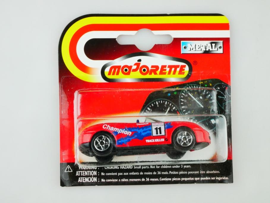 219 220 269 Majorette 1/60 Porsche Boxter Roadster Rally mit Box 512888