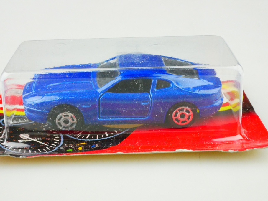 229 Majorette 1/60 Aston Martin DB 7 Coupe bluemetallic mit Box 512902