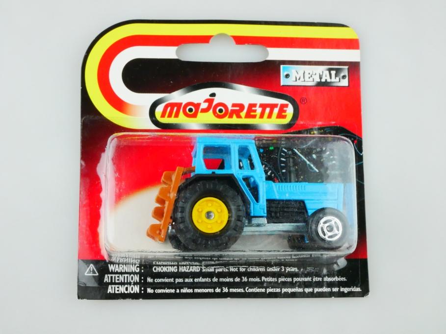 208 Majorette 1/65 Traktor Tracteur Agricole & Rechen mit Box 512905