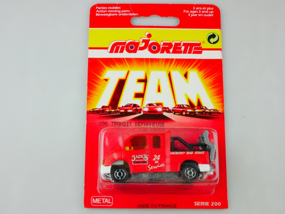 243 Majorette 1/60 Ford Transit Emergency Road Towing Service mit Box 512906