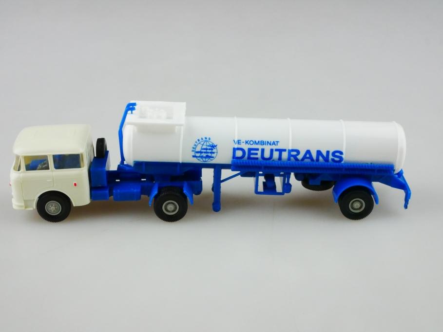 Permot 1/87 DDR Skoda VE Kombinat Deutrans Tanksattelzug ohne Box 512916