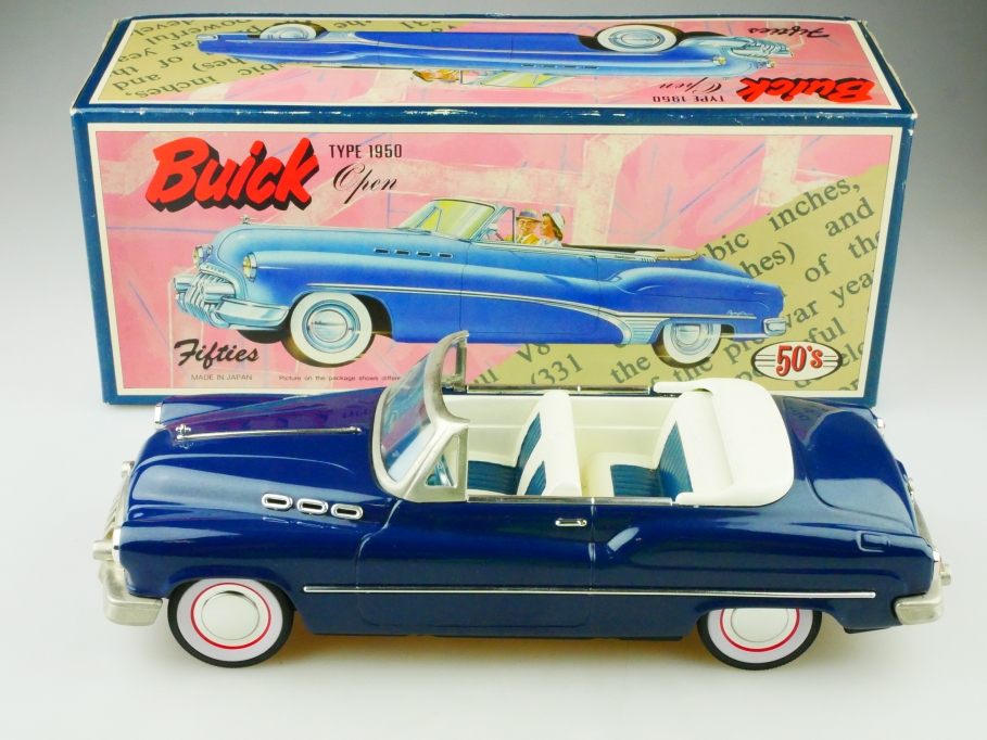 Japan ca. 1/18 Buick Convertible 1950 Friction Tin Toy Blech Auto mit Box 512944