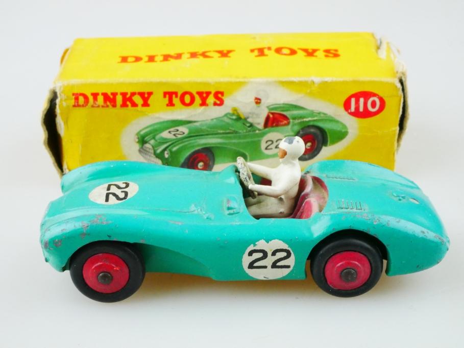 110 Dinky Toys 1/43 Aston Martin DB 3 Sports Racinggreen mit Box 512983