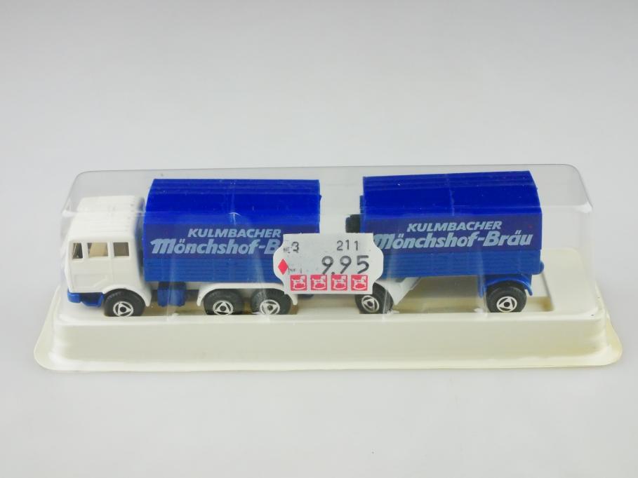 Efsi Holland 1/87 Mercedes Benz Lastzug Werbemodell Kulmbacher mit Box 513006