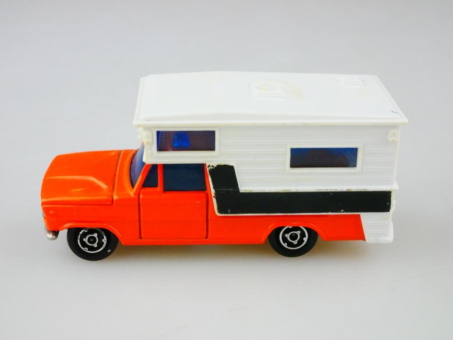 209 Majorette 1/80 Dodge Saviem Pick Up & Camperaufsatz ohne Box 513040