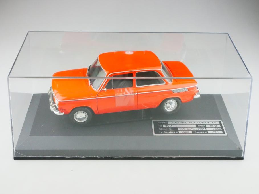 8884 Revell 1/18 NSU TT orange Limited Tüv Edition mit Vitrinen Box 513083