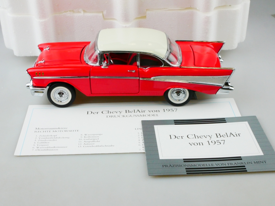 Franklin Mint 1/24 Chevrolet Bel Air Hardtop Sports Coupe 1957 mit Box  513138